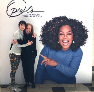 """My friend and I """"with"""" Oprah on her Denver tour stop."""