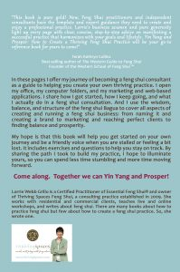 Back cover of my book.