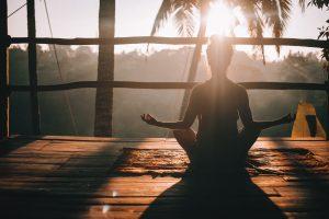 Meditating supports a balanced lifestyle.